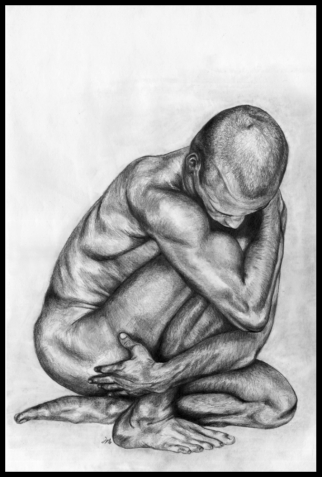 Body Language pencil drawing by Jowo